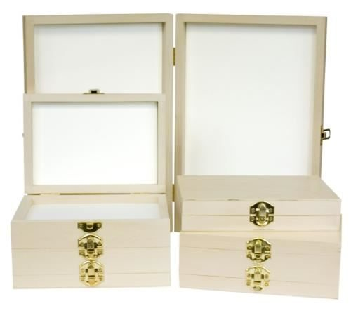PG-W01-W06 Wooden Display Fly Box