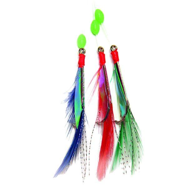 JW38431 Coloured Mackerel Feather - 3 hook