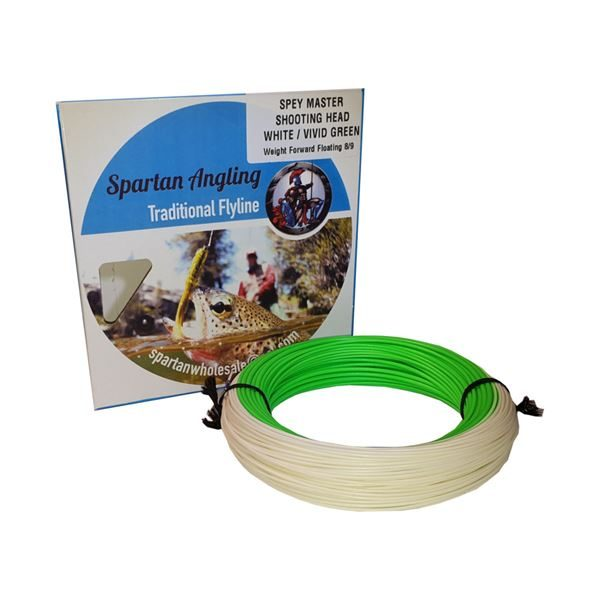 SW059-Spartan-Spey-Master-Shooting-Head-White-Green